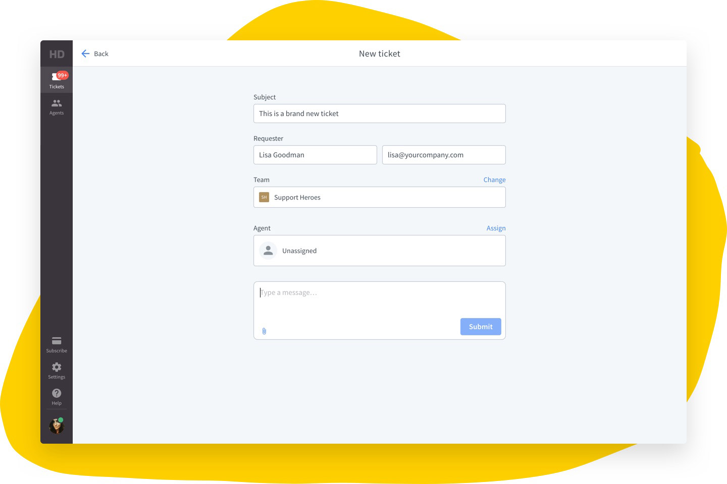 HelpDesk - Creating a ticket view