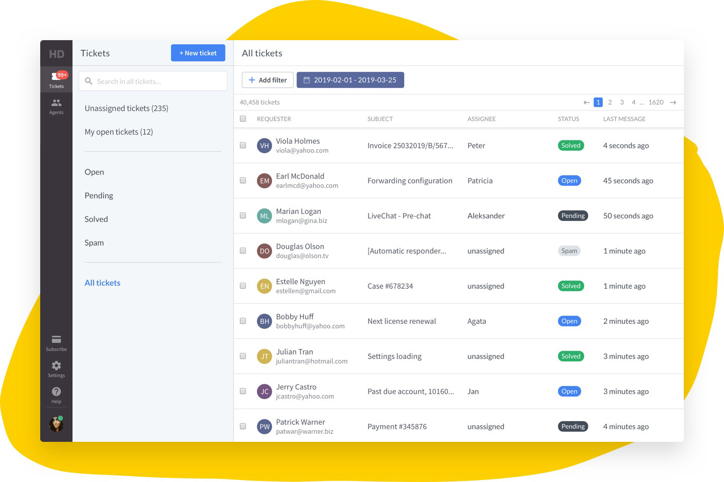 HelpDesk - Single ticket view