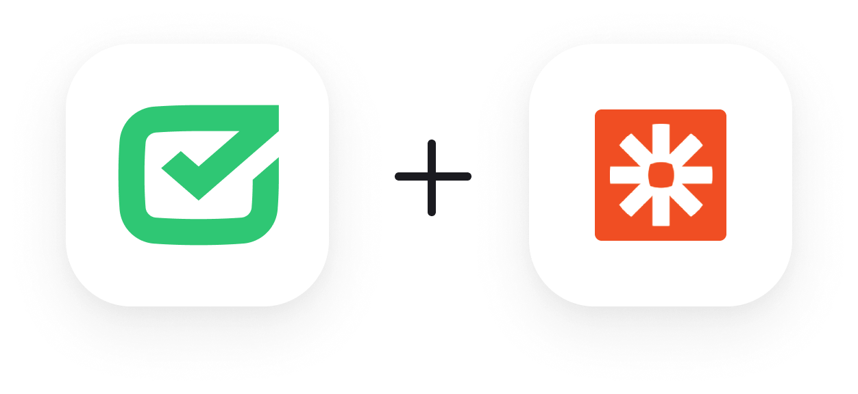 HelpDesk plus Zapier logos