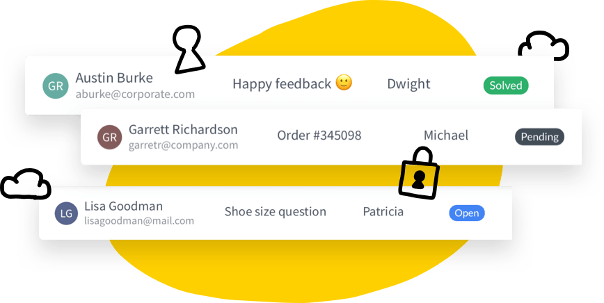 Emails converted into tickets safetly stored in HelpDesk